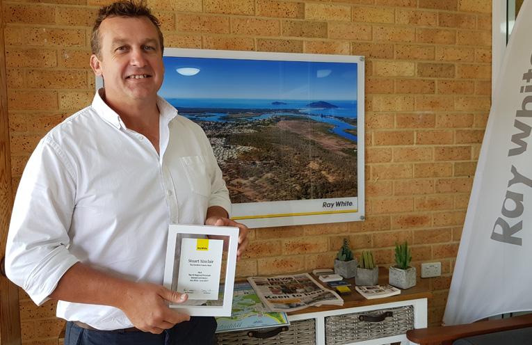 REGIONAL AWARD: Tea Gardens Real Estate Agent, Stuart Sinclair.
