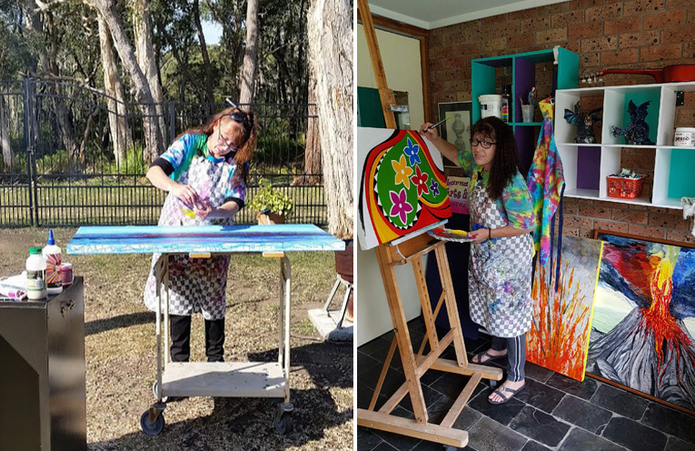 ARTIST AT WORK: Larna J. Clarke.