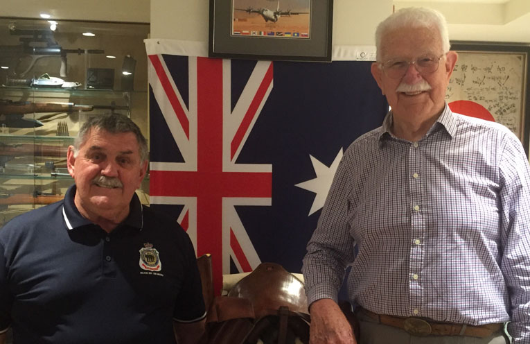 Nelson Bay RSL sub-branch secretary Russell Durrant and vice president Norm Cason. Photos by Jo Finn
