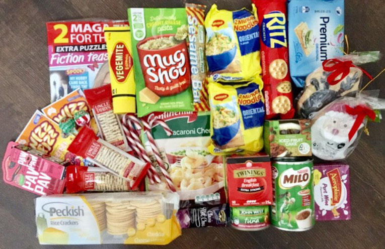 An example of some goodies you could send a soldier on overseas active duty.