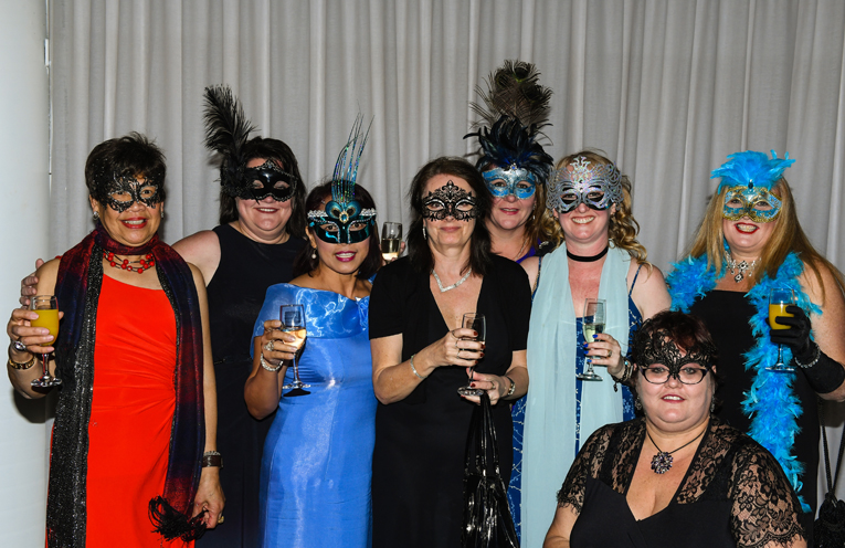 Supporters of the Tomaree Breast Cancer Support Group got into the spirit to raise $8000 to support their sisters.
