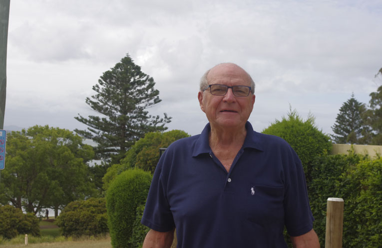 Tomaree Residents and Ratepayers Association president Geoff Washington. Photo by Marian Sampson.