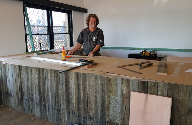 NEW CAFE FOR PUB: Carpenter Graham 'Winnie' Winn.