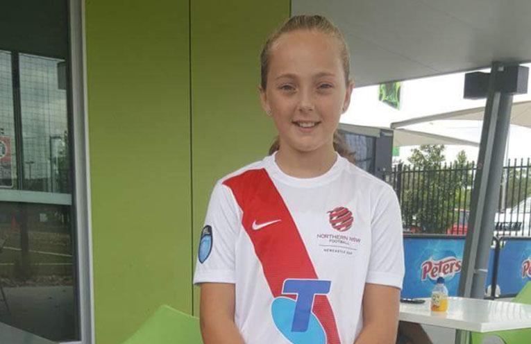 Alyssa Hogan impressed selectors with her soccer skills