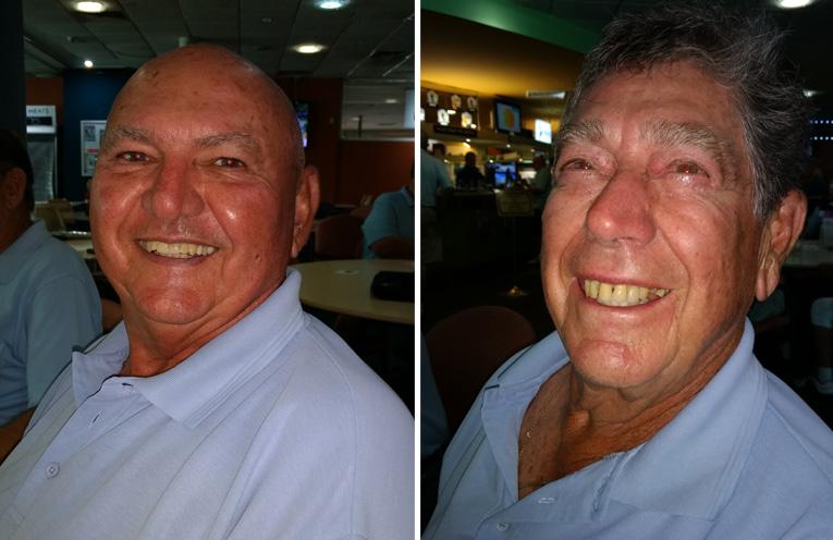 A Grade winner Col Amos and B Grade winner Alan Greenhalgh.