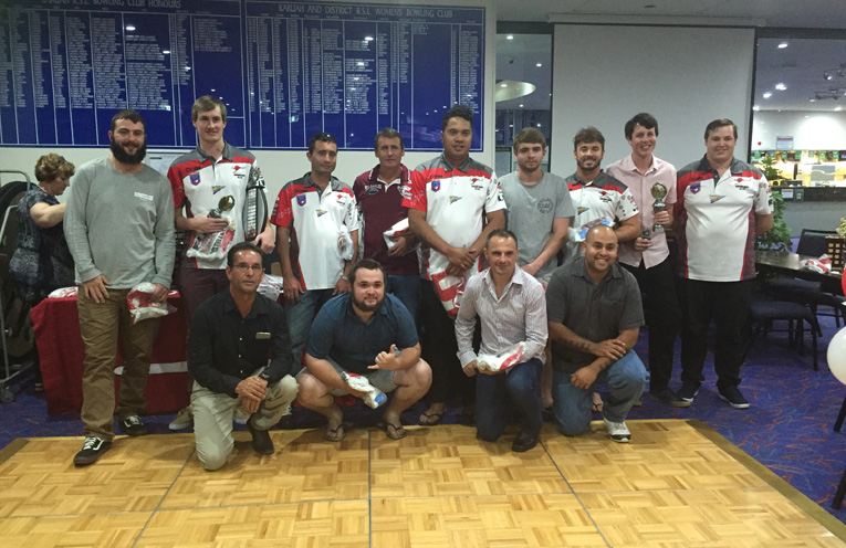 Some of the award winners from Karuah Roos RLFC.