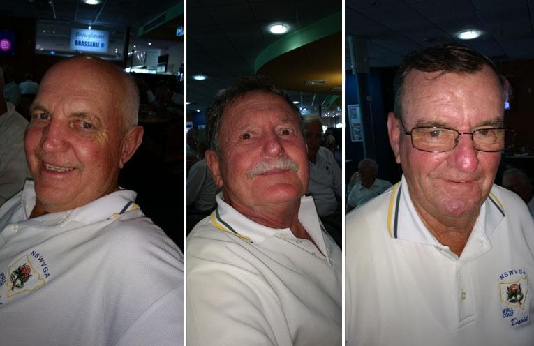 A Grade winner Col Bagnall. (left) B Grade winner Roger Humphries. (center) C Grade winner David Rimmer. (right)
