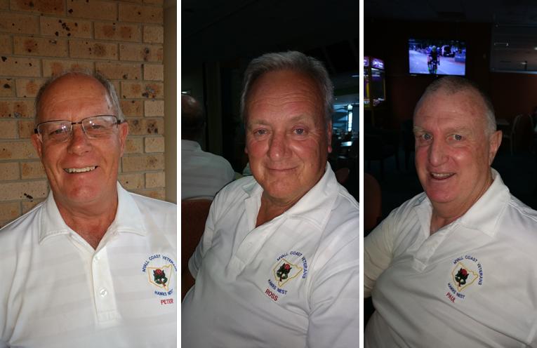 A Grade winner Peter Nealon. (left) B Grade R/U Ross Kirwin. (center) C Grade winner Paul McLean. (right)