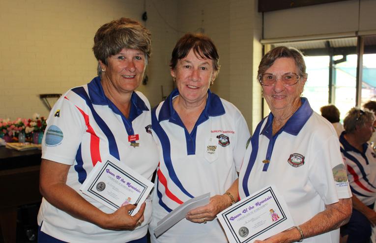 Second Place: Marilyn Tunbridge, Brenda Dyer and Narelle Berridge from Harrington. Photo: Mary-Anne Cashman