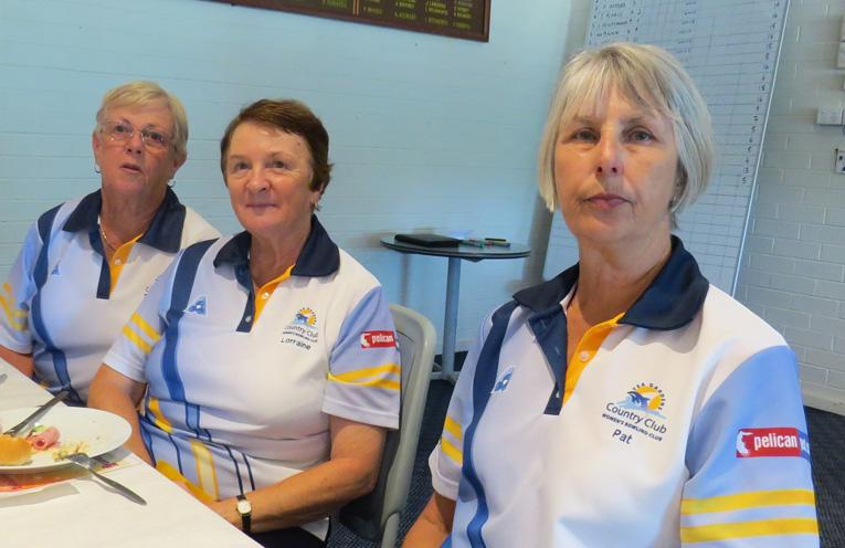 Lynne Green, Lorraine Harvey and Pat Baker from Tea Gardens.