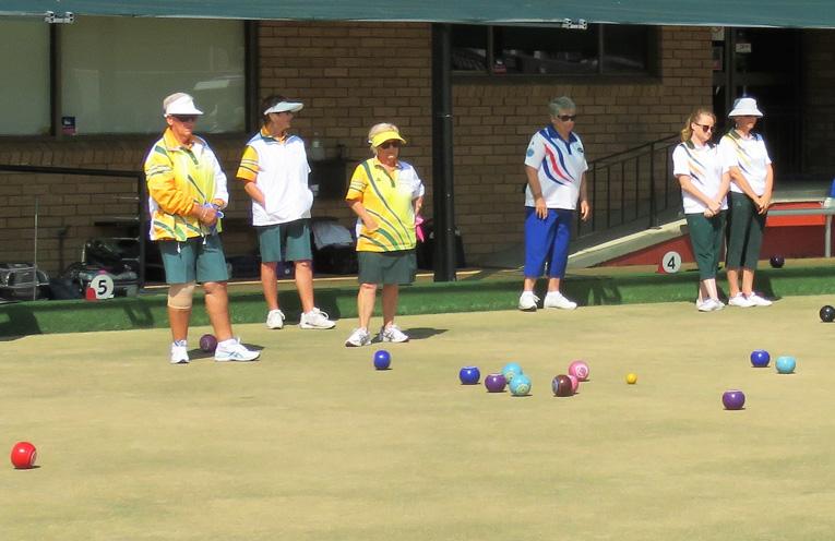 Teams from Sporties Tuncurry, Harrington and Bulahdelah at play.