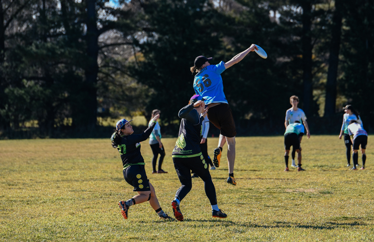 Flying high during Ultimate.