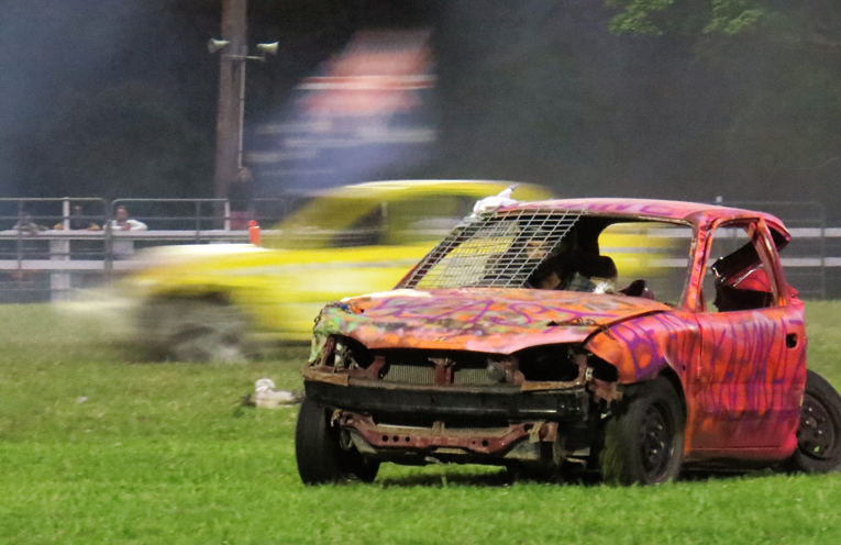 The demolition derby will be held on Saturday night.