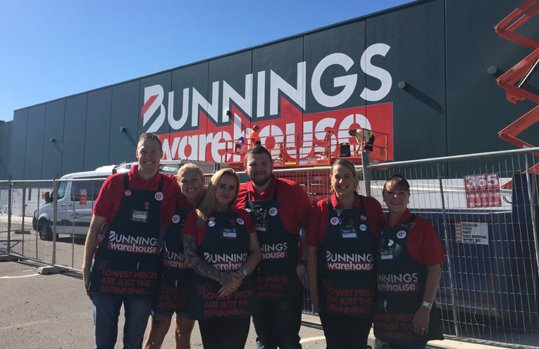 Sam Costelloe, Michele Hammond, Cara Ahern, Louise Hall and Julie Cumpson are just some of your friendly faces ready to help you at Heatherbrae Bunnings.