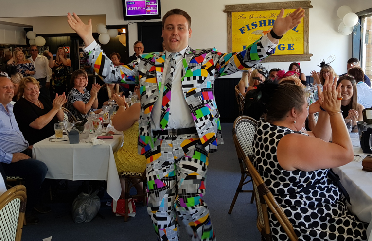 MELBOURNE CUP BEST DRESSED: Dylan Tennyson.