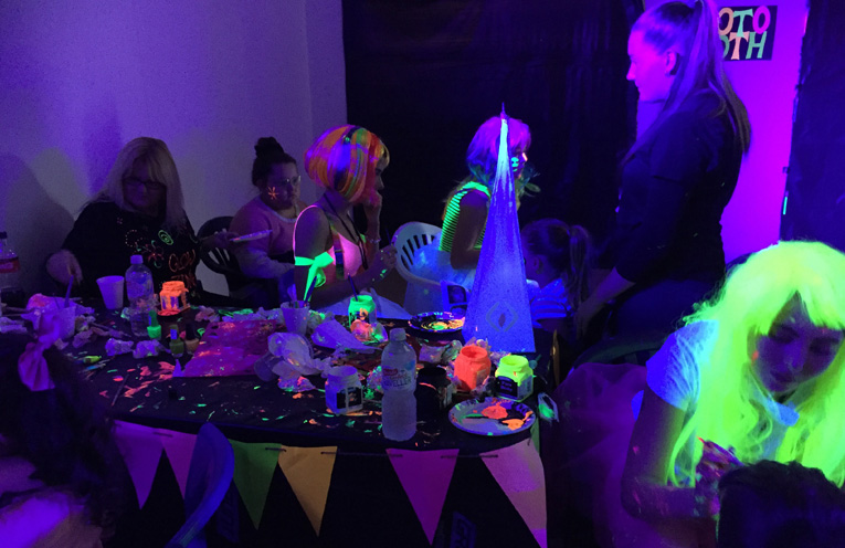 The glow room was a hit with all ages.