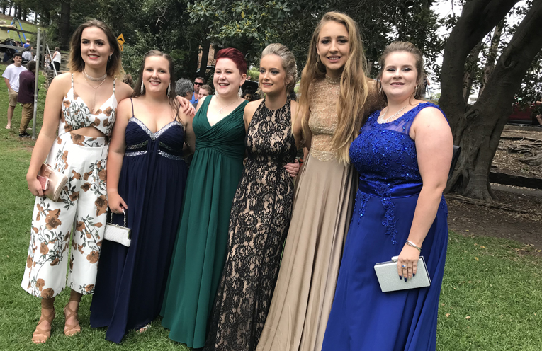 Dylan Hopper, Caitlyn Wardrope, Sarah Wilson, Annabel Bisley, Shannon Reilly and Monique Darcy