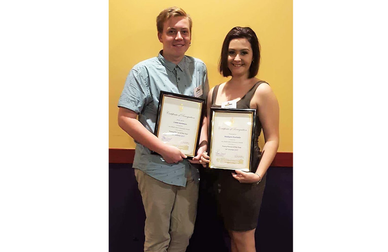 Young Person of the Year Finalists: Liam Garemyn and Madison Hurtado. Photo: Supplied