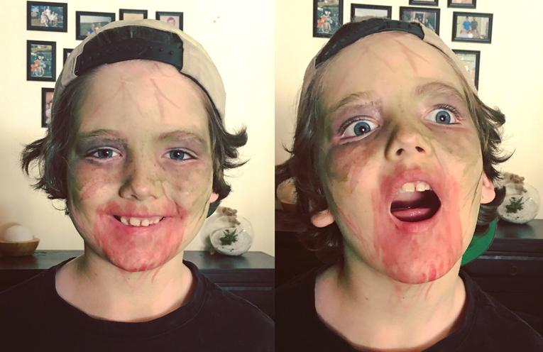 Lucas Mowle had a wonderful first Halloween.