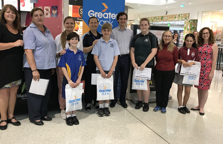 This week's winners being awarded by Councillor Giacomo Arnott.