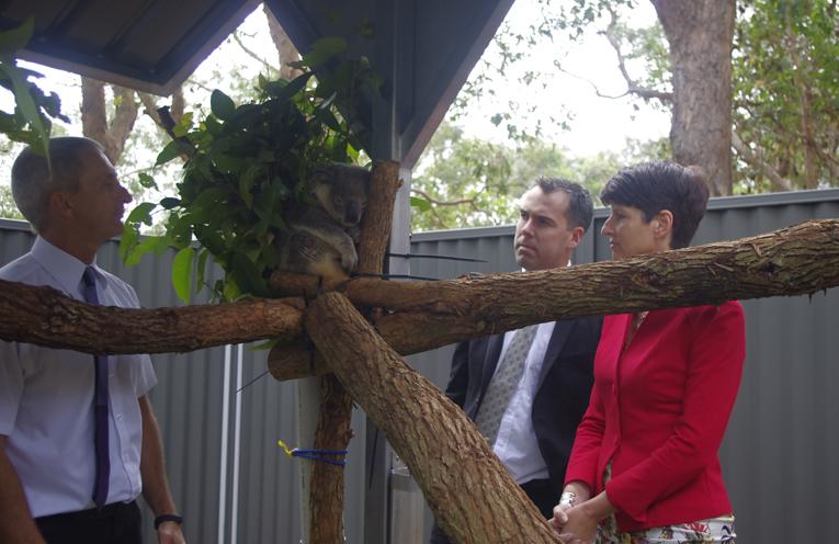 Kate Washington, Port Stephens Mayor Ryan Palmer and Council's General Manager Wayne Wallis. Photo by Marian Sampson.