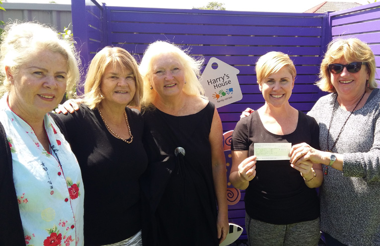 PEARLS DONATION TO HARRY'S HOUSE: Karin Anseline, Carol McCaskie, Kerry Patterson, Samantha Meyn and Kathy Gillespie.