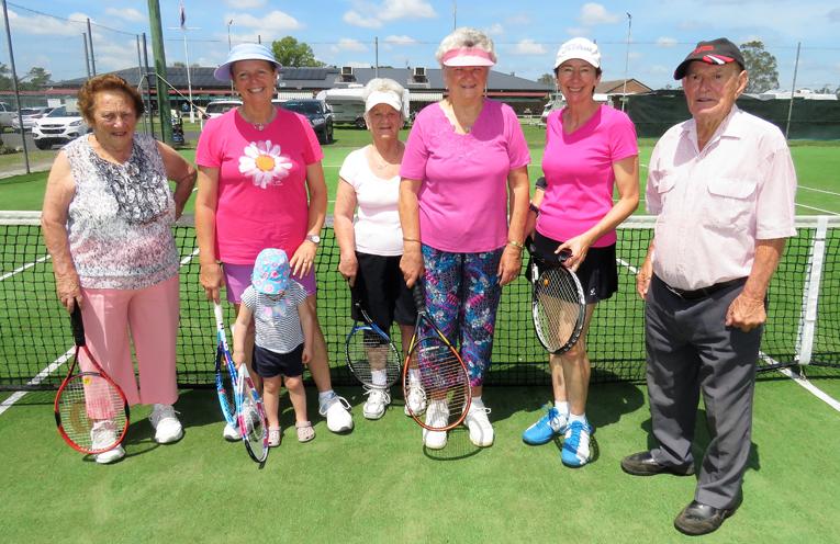 Pink Day: Rosie Newton, Thora-Lou Smith, Pippa Rinehart, Del Montague, Fay Morgan, Meredith Rae and Les Morgan