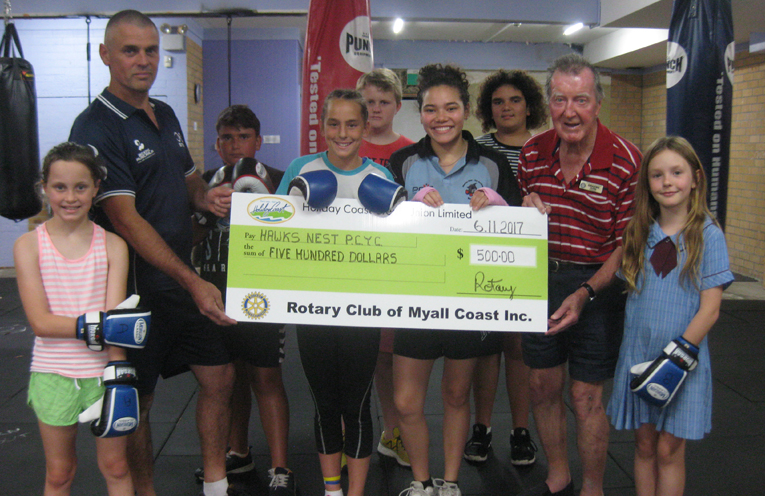 ROTARY DONATION: PCYC Boxing Gym at Hawks Nest.