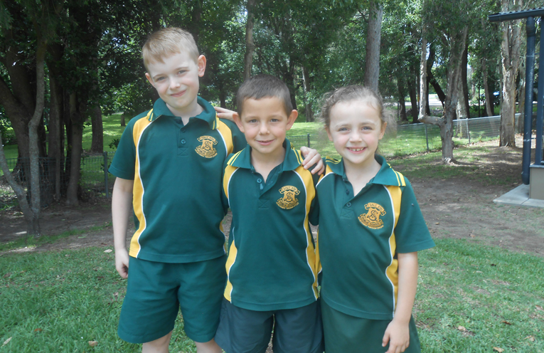 Leo, Riley and Zali are excited to see the playground become a reality.