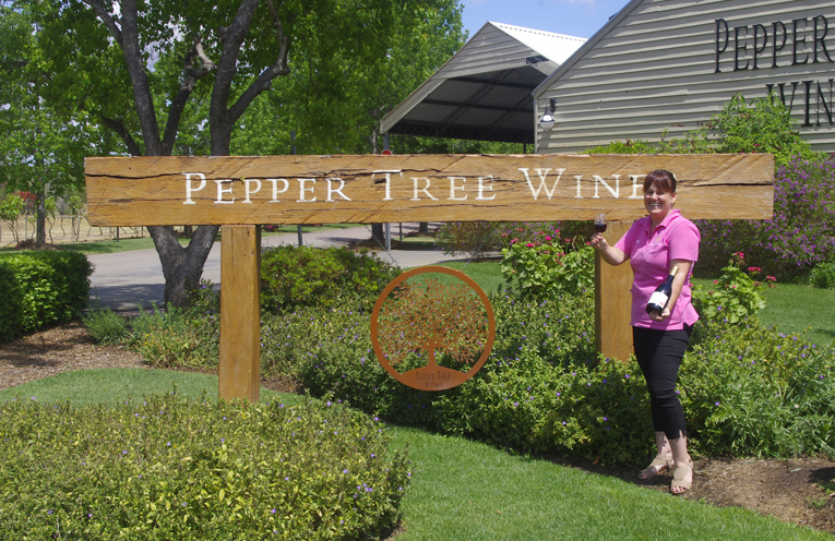 Michelle Preece of Pepper Tree Wines will be at Nelson Bay for Tastes at the Bay. Photo by Marian Sampson.