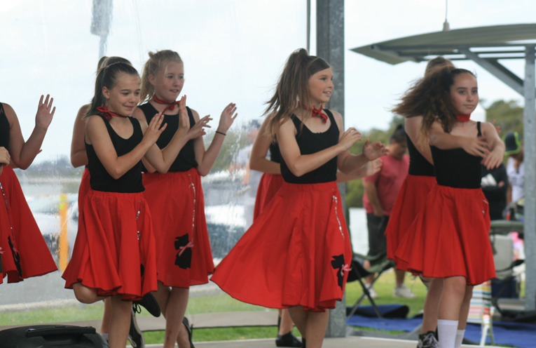 Children from local dance schools perform at the TIlligerry Festival.