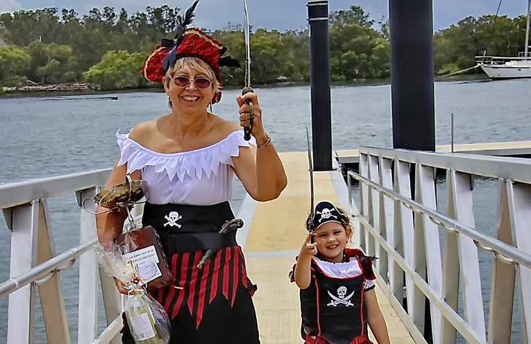 The best dressed pirates at the blessing of the fleet!