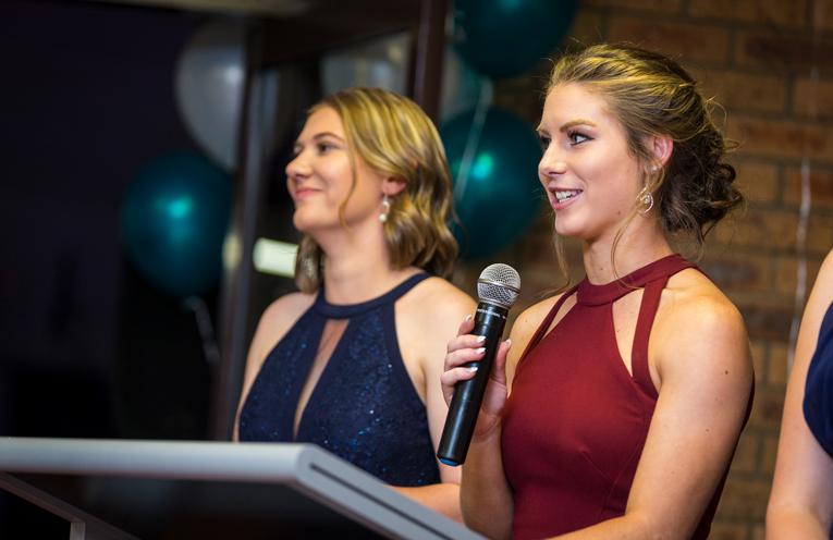 Formal Speech: Tamara Gooch and Bianca Mason. Photo: Matt Hudson