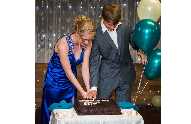 Graduation Cake: Kaitlyn Gregory and Darcy Harris. Photo: Matt Hudson