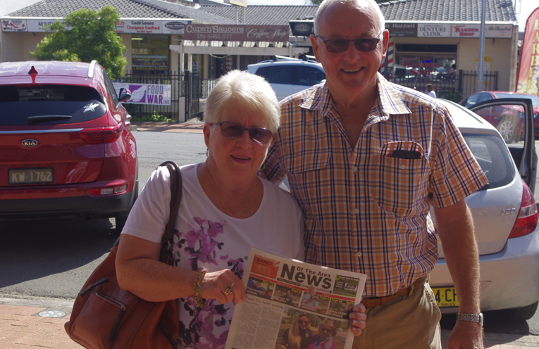 "Ron and Joan West who said ""It will be great to have a newspaper all about Raymond Terrace."" Photo by Marian Sampson."