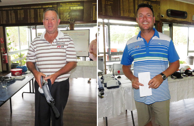 Geoff Graham from Bulahdelah. (left) Short Course Championship Round Six prize winner (right)