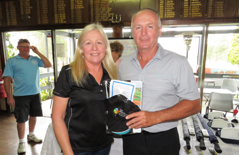 Short Course winner with sponsor Karen Bartlett.