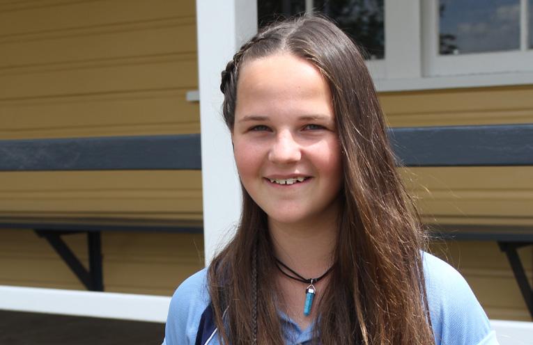 Hunter River High School student: Kaitlyn Eastley, Year 8