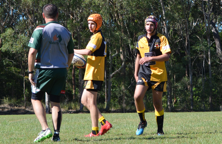 They boys enjoy playing for Medowie Marauders Rugby together.