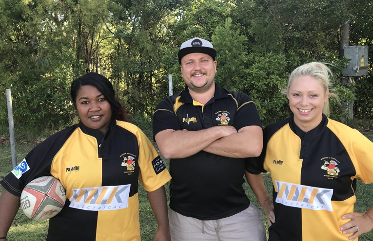 Kaoa Kii, Reece Montgomery and Elysia Montgomery are ready to launch the Medowie women back into competition.