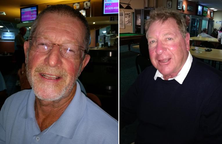A Grade winner Ron Wright. (left) C Grade winner Graham Benson. (right)