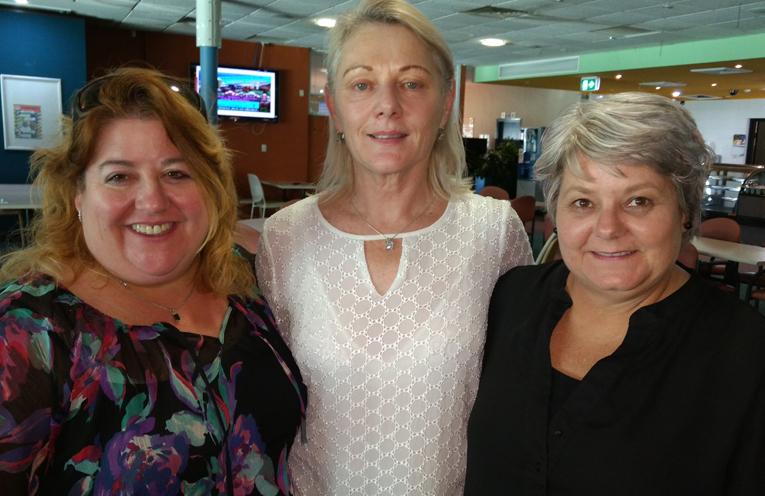 Monica, Joan and Trudi.