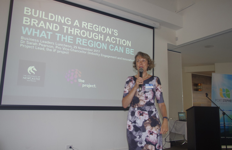 Dr Sarah Parsons inspiring Businesses to Innovate, Collaborate and Cowork. Photo By Marian Sampson.