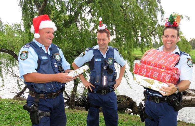 'Tis The Season: Sn Constables Trevor McLeod, Dave Feeney and Ash Ray get into the festive spirit.