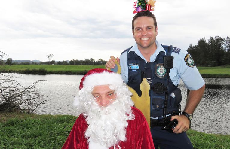 Sn Constable Ash Ray with Santa.