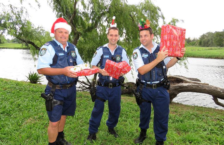 'Tis The Season: Sn Constables Trevor McLeod, Dave Feeney and Ash Ray.