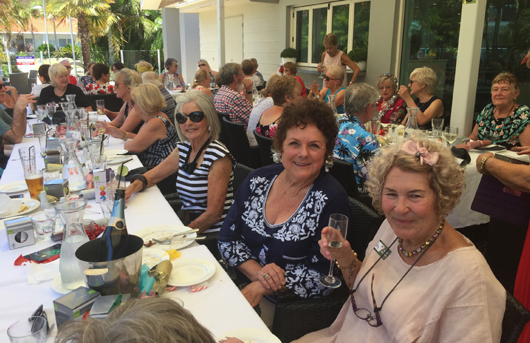 Lyn, Sue, Cheryl, Helen, Florence, Helen at the BayFit Christmas get together.