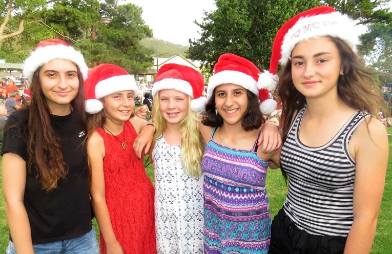 Celeste Stubbs, Carol Poniris, Georgia McKillop-Davis, Sophia Stubbs and Katerina Poniris.