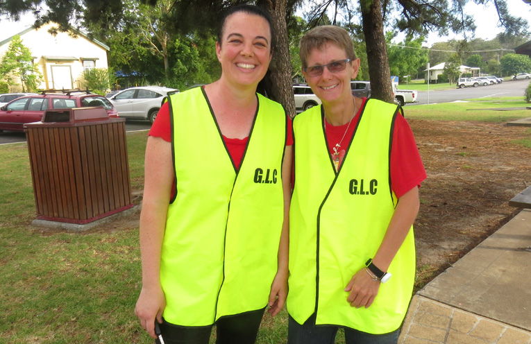 Organising committee members Rachel Coelho and Tania Locke.