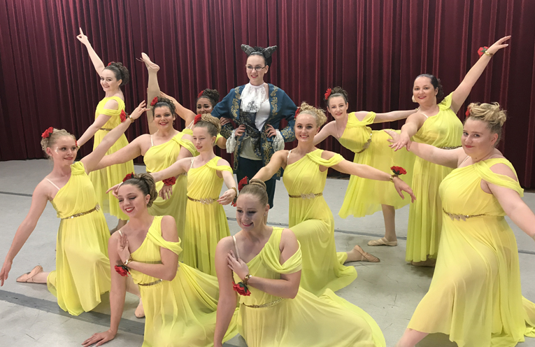 The Seniors dance group performed a Beauty and the Beast piece.